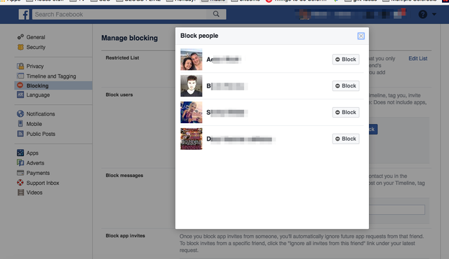 blocking people settings facebook