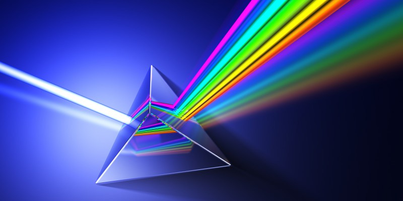 Light dispersion illustration. Hi-res 3d rendering.