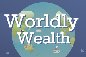 An infographic of worldly wealth